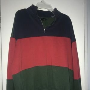 Pacsun quarter zip striped sweatshirt